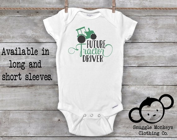 Future Farmer Onesie®, Tractor Onesie, Tractor Baby Clothes, Baby Shower Gift, Farm Boy Gifts, Little Farmer, Country Baby Boy Clothes