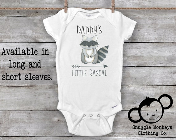 Raccoon Onesie®, Daddy Loves Me Onesie, I Love Daddy Onesie®, Baby Shower Gift, Dad to Be Gift, Daddy's Boy, Raccoon Baby Clothes, Baby Boy