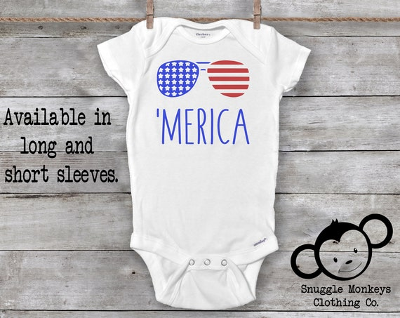 Merica Onesie®, Funny Baby Onesie®, American Onesie®, Fourth of July Onesie®, Patriotic Onesie, Baby Shower Gift, Fourth of July Baby Outfit