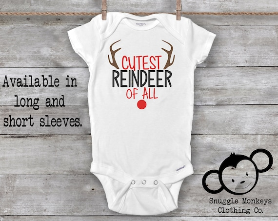 First Christmas Onesie®, Rudolph Onesie®, Cute Christmas Onesies®, Baby First Christmas Outfit, Christmas Baby Shower, 1st Christmas Baby