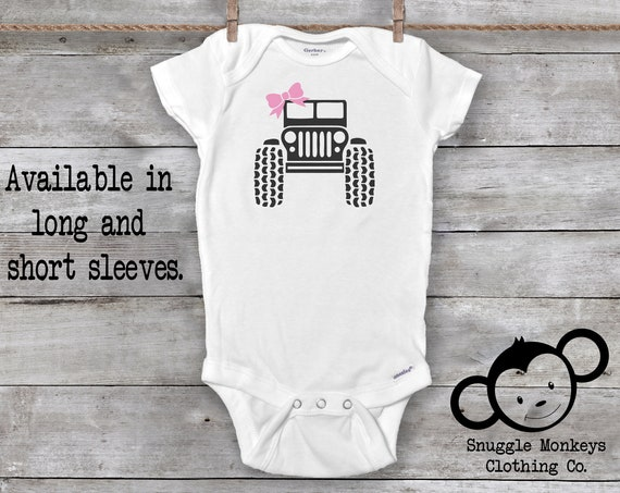 Jeeper Baby Girl Onesies®, Girl Funny Baby Onesies®, Baby Onesies®, Baby Girl Truck Onesies®, Cute Baby Girl Clothes, Jeeper Girl Clothes