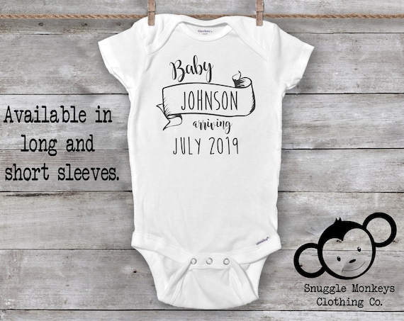 Pregnancy Announcement Onesie®, Pregnancy Reveal Onesie, Pregnancy Announcement to Grandparents, Baby Announcement Shirt, Baby Reveal Onesie
