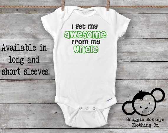 Uncle Onesies®, Cool Like My Uncle Onesie®, My Uncle Loves Me Onesie®, Uncle Baby Clothes, Baby Shower Gift, Funny Uncle Onesie®, Baby Boy