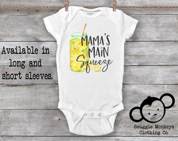Mama's Main Squeeze Onesie®, Funny Baby Onesie®, I Love Mom Onesie®, Mama Onesie®, Unisex Baby Clothes, Baby Shower Gift, Lemon Onesie®