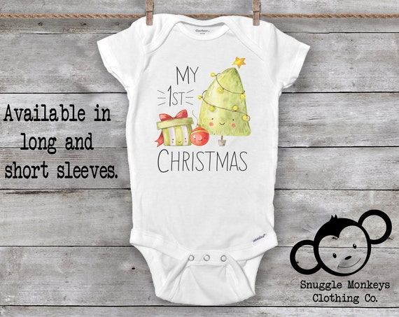 First Christmas Onesie®, Christmas Tree Onesie®, Christmas Onesies®, Baby First Christmas Outfit, Christmas Baby Shower, 1st Christmas Baby