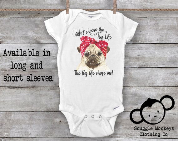 Pug Life Onesie®, Funny Baby Onesie®, Cute Pug Shirts for Girls, Baby Shower Gift, Pug Baby Clothes, Pug Baby Outfit, Dog Onesie®