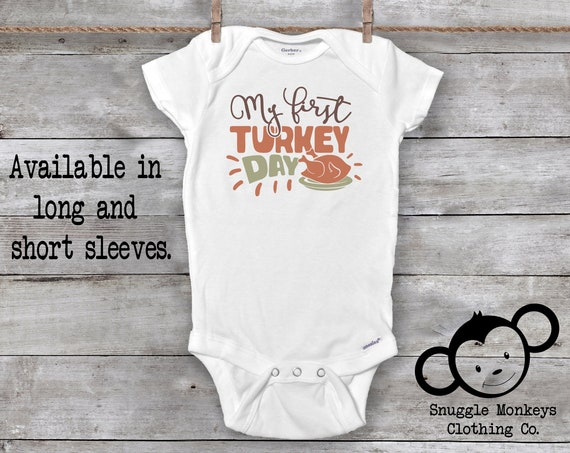 First Turkey Day  Onesie®, First Thanksgiving, Little Turkey Onesie®, Turkey Baby Clothes, Turkey Baby Onesie®, First Thanksgiving Outfit