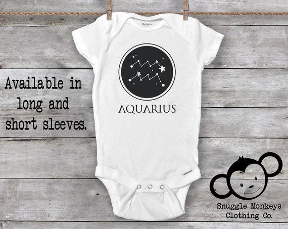 Aquarius Onesie®, Aquarius Baby Clothes, Zodiac Baby Clothes, Baby GIrl Clothes, Baby Boy Clothes, Constellation Onesie®, Astrology Gift