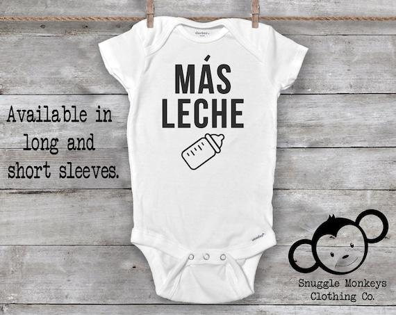 Mas Leche Onesie®, Milk Onesie, Funny Baby Onesie, Baby Girl Gift, Baby Boy Gift, Unisex Baby, Baby Shower Gift, Drinking Buddy Onesie
