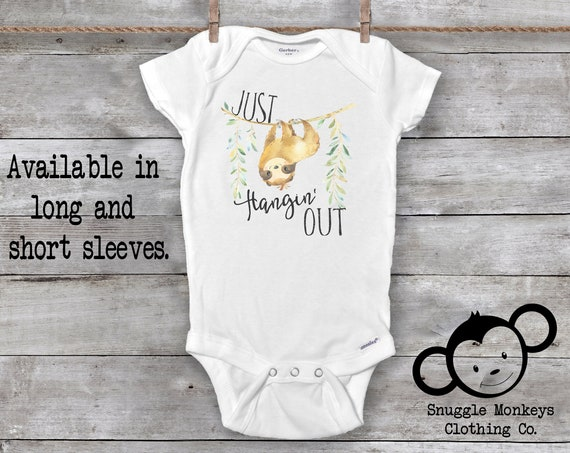 Sloth Onesie®, Funny Baby Onesie®, Sloth Baby Clothes, Baby Shower Gift, Hipster Baby Clothes, Sloth Baby Gift, Unisex Baby Onesie