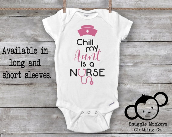 My Aunt is a Nurse Onesie®, Baby Girl Nurse Clothes, Baby Girl Clothes, Nurse Baby Clothes, Aunt Onesie, Cute Baby Clothes, Baby Shower Gift