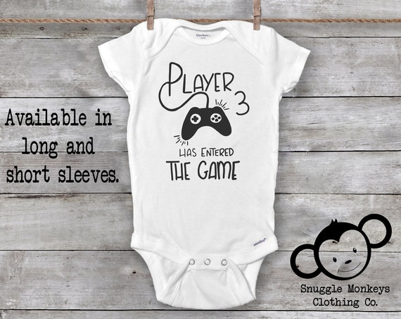 Player 3 Has Entered The Game, Player 3 Onesie®, Future Gamer, Gaming Baby Onesie®, Baby Shower Gift, Gamer Baby Onesie®, Gamer Baby Clothes