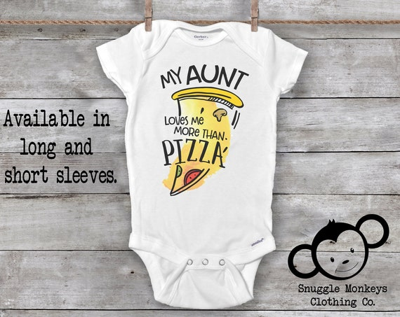 My Aunt Loves Me Onesie®, Pizza Onesie®, Funny Aunt Onesie®, Auntie Onesie®, Cool Like My Aunt, Pizza Baby Onesie®, Baby Shower Gift