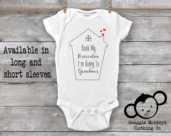 Book My Reservations I'm Going to Grandma's, Grandma Onesie®, I Love Grandma Onesie®, Grandma Loves Me, Baby Shower Gift, Cute Onesies®