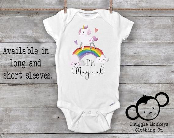 Unicorn Onesie®, Unicorn Baby Outfit, Unicorn Baby Shower, Unicorn Baby Gift, Baby Girl Clothes, Cute Baby Clothes, Baby Shower Gift
