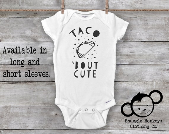 Taco Bout Cute Onesie®, Funny Baby Onesie, Taco Onesie, Fiesta Onesie, Taco Baby Clothes, Unique Baby Gift, Baby Shower Gift, Unisex