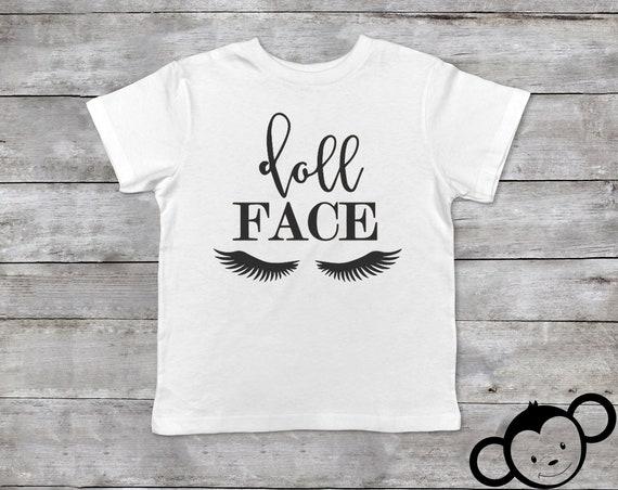 Doll Face Toddler Shirt, Eyelash Shirt Kids, Toddler Eyelash Shirt, Cute Toddler Shirt, Toddler Girl Shirt, Toddler Girl Gift, Cute Girl