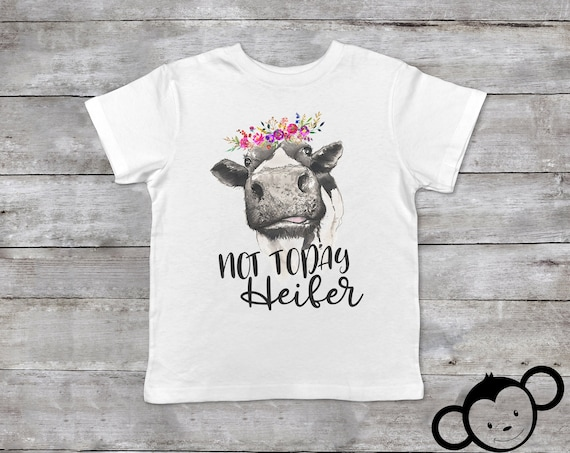 Not Today Heifer, Funny Toddler Shirt, Toddler Cow Shirt, Toddler Girl Clothes, Farm Toddler Shirt, Cow Toddler Outfit
