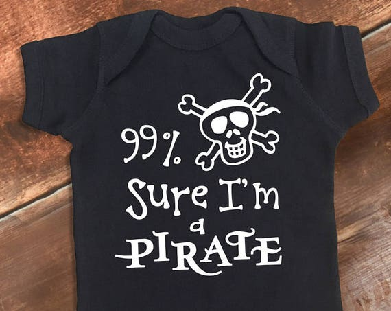 Baby Boy Clothes, Funny Baby One Piece, Funny Baby Clothes, Pirate Shirt, Funny Baby Shirt, Funny Baby Gift, Bodysuit