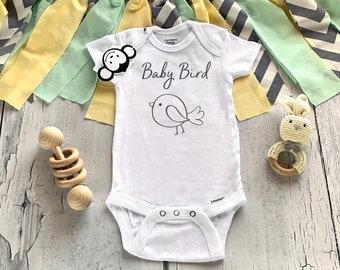 Cute Baby Onesie Bodysuit Girl Celebration Onesie Boy Onesie Reveal Onesie Going Home Outfit Little Bird Blue Onesie\u00ae
