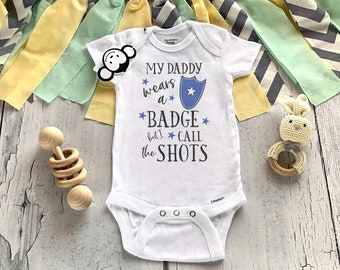Police Baby Onesie®, Cop Baby Onesie®, Baby Shower Gift, Police Baby Outfit, Baby Girl Clothes, Baby Boy Clothes, Dad Police Officer