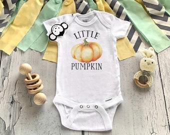 Little Pumpkin Onesie®, Pumpkin Baby Outfit, Fall Onesie®, Fall Baby Clothes, Pumpkin Baby Shower, Cutest Pumpkin in the Patch