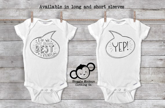 Funny Twin Onesies®, Did We Just Become Best Friends, Twin Baby Gift, Twin Baby Shower, Twin Baby Clothes, Double the Love, Cute Twin Outfit