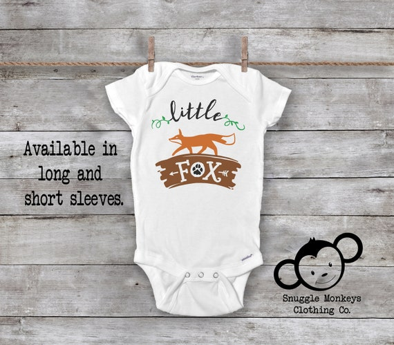 6a110477f Little Fox Onesie® Baby Boy Clothes Baby Shower Gift Cute | Etsy