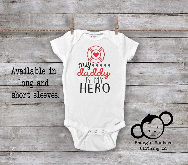 ccbb23bb86bee Firefighter Daddy is My Hero Onesie®, Fireman Onesie®, Firefighter Baby  Onesie®, Fireman Baby Shower, Firefighter Onesie®, Baby Firefighter