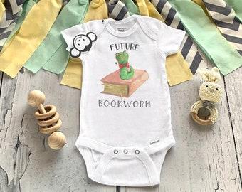 Bookworm Onesie®, Baby Shower Gift, Literature Onesie®, Book Baby Clothes, Unisex Baby Clothes, Cute Baby Onesies®, Bookworm Baby Gift