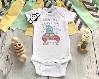 Auntie Onesie®, Aunt Onesie®, My Aunt Loves Me Onesie®, I Love My Aunt Onesie®, Pregnancy Reveal, Baby Shower Gift, Aunt Shirt, Unisex Baby