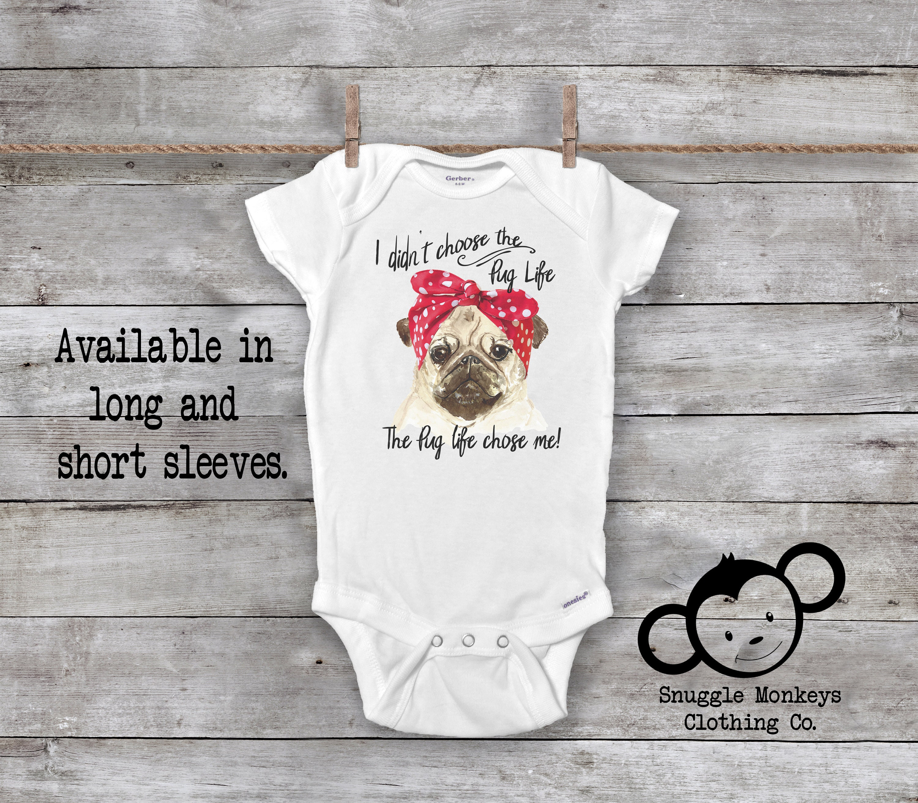 0799fcf03 Pug Life Onesie®, Funny Baby Onesie®, Cute Pug Shirts for Girls, Baby  Shower Gift, Pug Baby Clothes, Pug Baby Outfit, Dog Onesie®