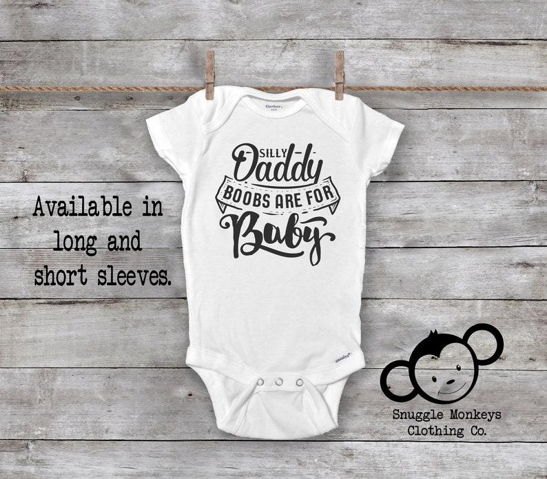 daf3dbaa7 Funny Breastfeeding Onesie® Funny Baby Onesie® Dos Boobies | Etsy