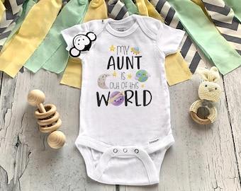 Aunt Onesie®, Auntie Onesie®, Aunt Baby Clothes, I Love My Aunt, Baby Shower Gift, Pregnancy Reveal, Cute Aunt Shirts, Unisex