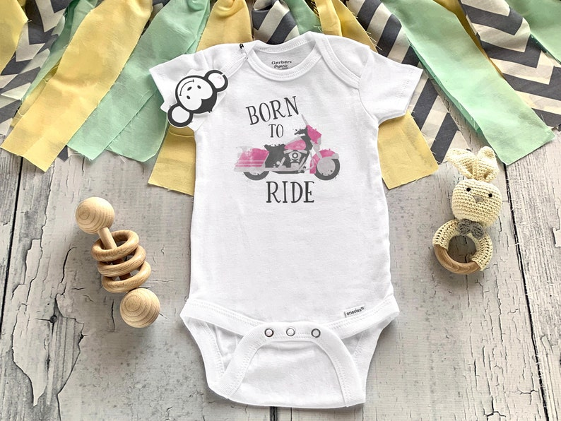 Born To Ride Onesie® Motorcycle Onesie® Motorcycle Baby image 0