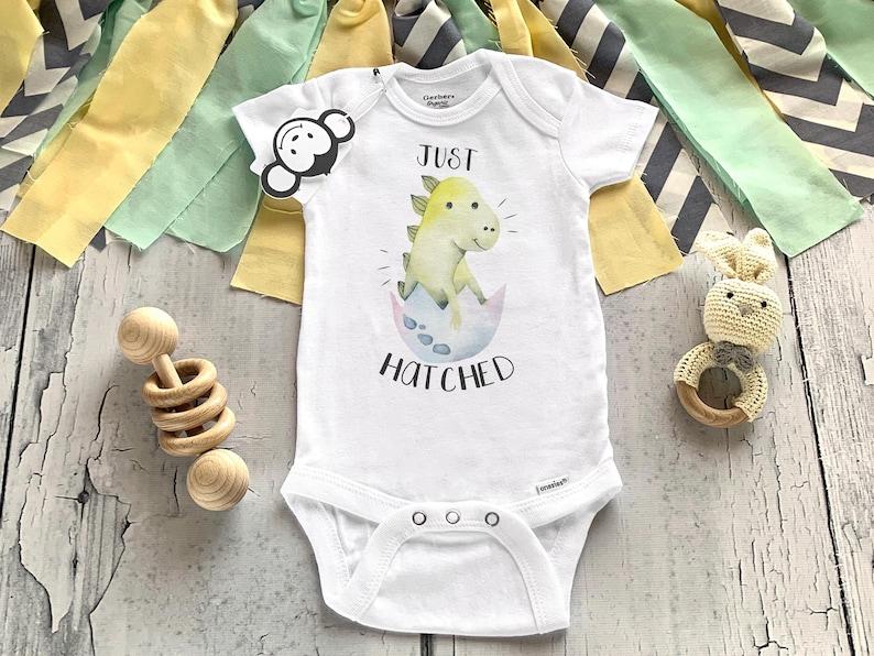 Just Hatched Onesie® Dinosaur Onesie® Dinosaur Baby Gifts image 0