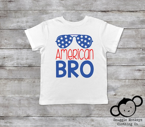 Fourth of July Toddler Shirt, American Bro, Funny Toddler Shirts, Fourth of July Outfit, Trendy Toddler Clothes, Patriotic Toddler Shirt