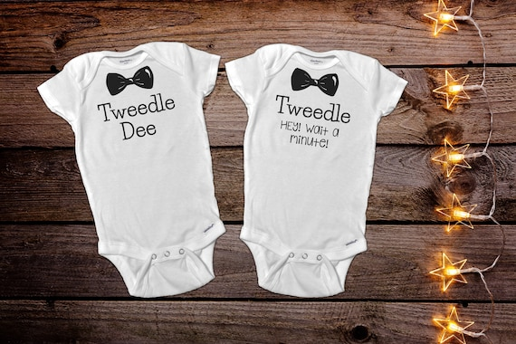 Funny Twin Onesies 174 Funny Baby Onesie 174 Twin Baby Gift Baby