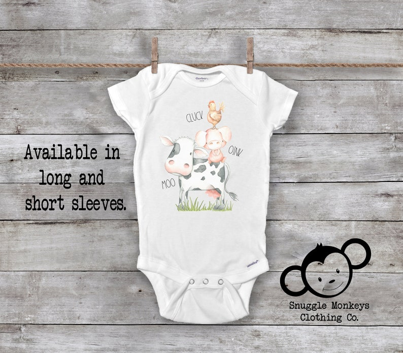 81cf9e31d Cluck Oink Moo Onesie® Farm Onesie® Cow Onesie® Country | Etsy
