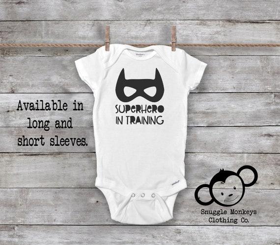 I/'m A Superhero in Training Newborn Baby Romper Bodysuit Long Sleeve Clothes Set