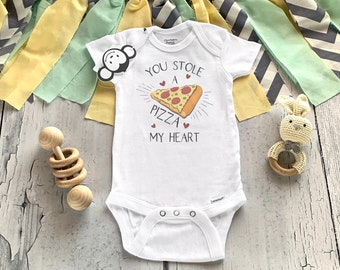 Pizza Onesie®, Funny Baby Onesie®, Baby Shower Gift, Food Baby Clothes, Hipster Baby Clothes, Cute Baby Clothes, Valentine Onesie®,