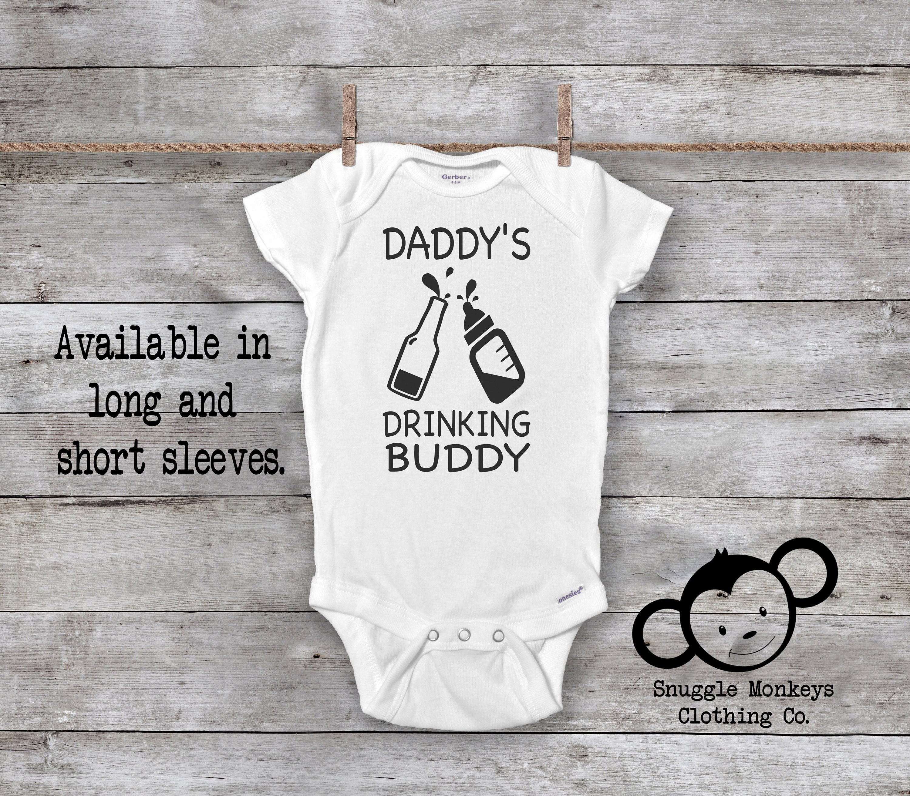 cf331b9f6 Drinking Buddy Onesie®, Funny Baby Onesie®, I Love Daddy Onesie®, Beer  Onesie®, Daddy Baby Clothes, Baby Shower Gift, Cute Baby Clothes