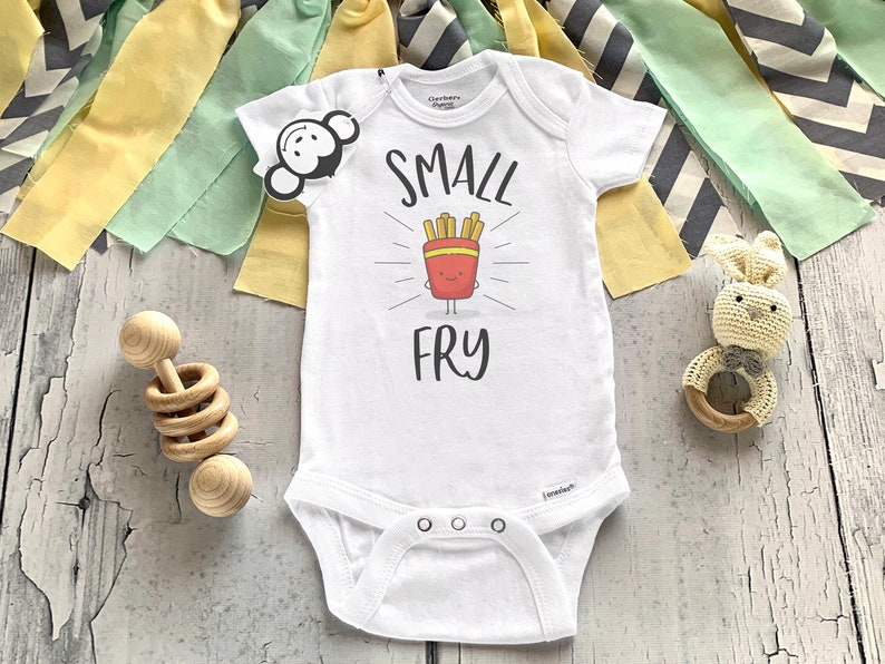 Small Fry Onesie® Funny Baby Onesie® Baby Shower Gift Food image 0