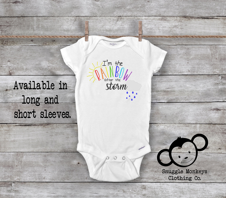 e1599981a The Rainbow After The Storm Onesie®, Rainbow Baby Onesie®, Miracle Baby  Onesie®, Cute Baby Clothes, Rainbow Baby Clothes, Baby Shower Gift