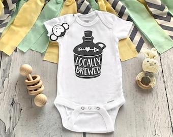 Locally Brewed Onesie®, Funny Baby Onesie®, Baby Shower Gift, Unisex Baby Clothes, Home Grown Onesie®, New Baby Gift, Cute Baby Onesie®