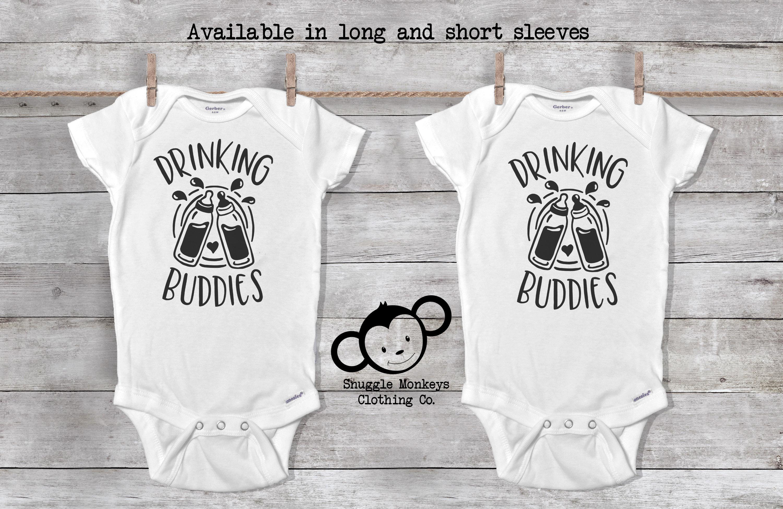 593e89cbe Drinking Buddies Onesie® Twin Baby Gift Twin Onesies® Twin | Etsy