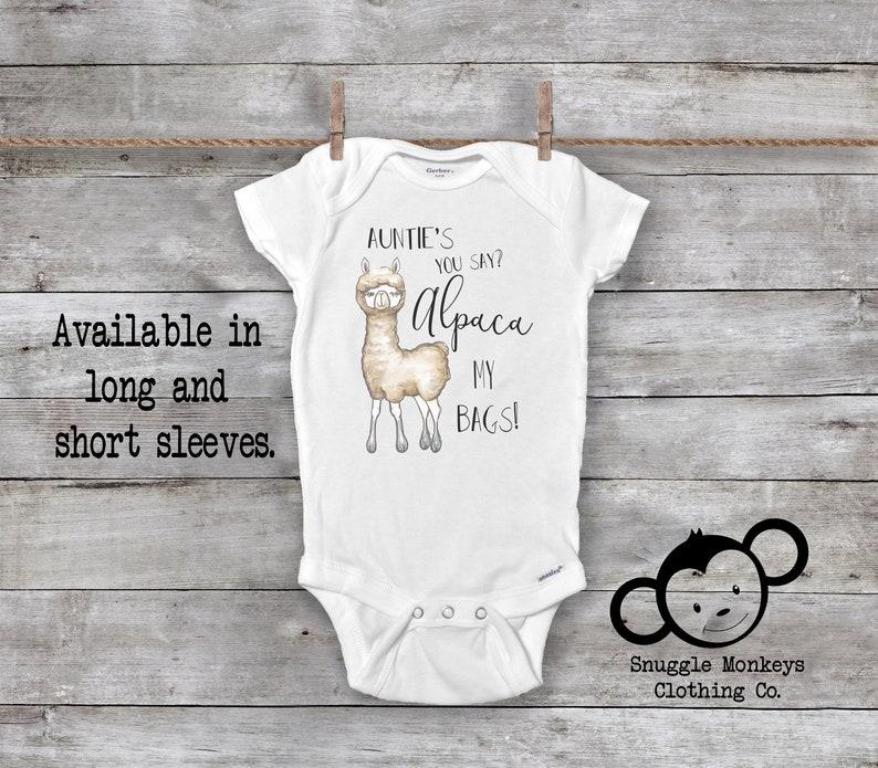 9230983dc Auntie Onesie® Funny Baby Onesie Alpaca Onesie My Auntie | Etsy