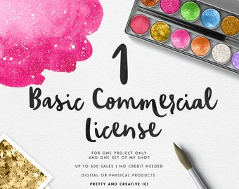 BASIC Commercial License Under 500 sales | ONE License Only