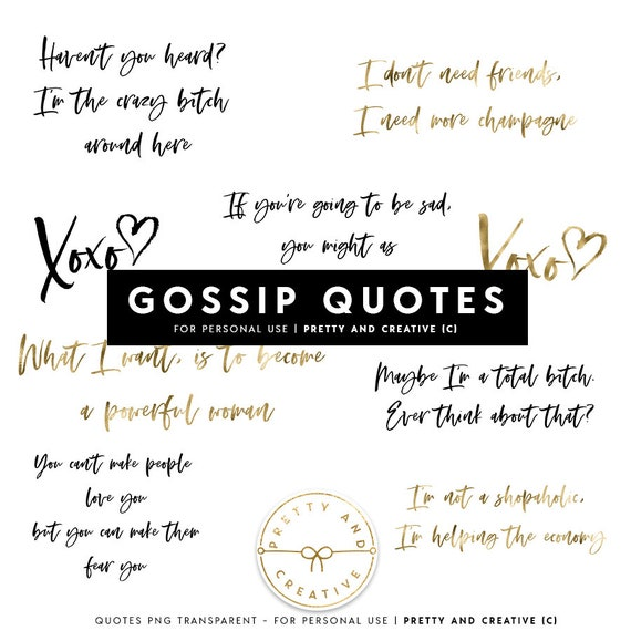 Gossip Quotes Fashion Quotes Champagne Blair Serena Etsy