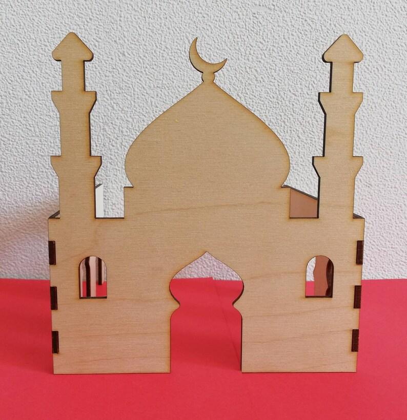 Wooden 3d Mosque Diy Mosque Muslim Kids Crafts Islamic Diy Etsy